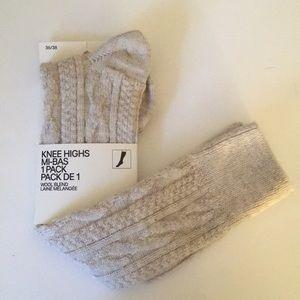 Knee high woven socks